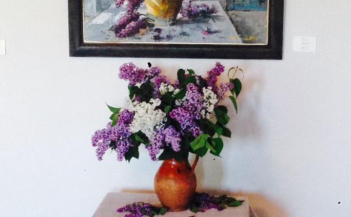 Цветы в галерее художника